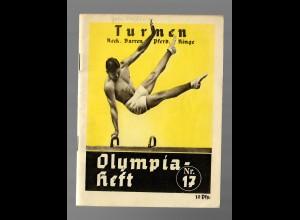 Olympia Heft - Turnen: Reck, Barren, Pferd, Ringe, 1936