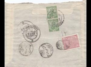 Afghanistan: 1927: Landikhana, India Postage nach Kabul