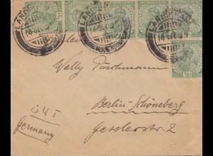 Afghanistan: 1925: Landikhana, India Postage nach Berlin