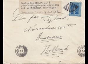 Ägypten/Egypte: 1948 Brief nach Amsterdam, Zensur