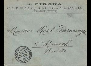 Ägypten/Egypte: Alexandria 1897 nach München