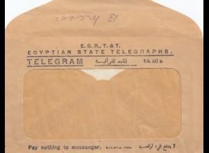 Ägypten/Egypte: 1942: 12x Receipt El Daba Maryut mit Telegram Umschlag