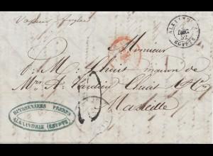 Ägypten: 1852 Alexandria nach Marseille
