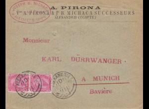 Ägypten/Egypte: 1900 Alexandria nach München