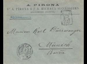 Ägypten/Egypte: 1897: Alexandria nach München