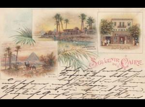 Ägypten/Egypte: 1903 Ansichtskarte Cairo nach Delmenhorst