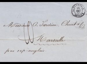 Ägypten/Egypte: Alexandria nach Marseille 1853