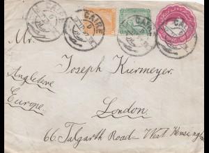 Ägypten/Egypte: 1897: Ganzsache Cairo nach London