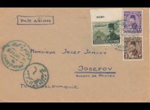 Ägypten/Egypte: Luftpost Cairo nach Josefov/Cz