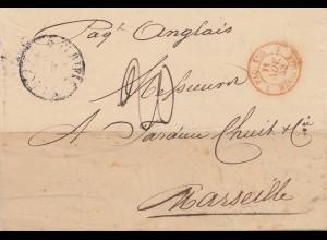Ägypten/Egypte: 1852 Alexandria nach Marseille