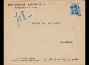 Ägypten/Egypte: 1938: Porto-Said nach Brüssel
