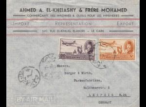 Ägypten/Egypte: Brief von Cairo nach Leipzig als Luftpost