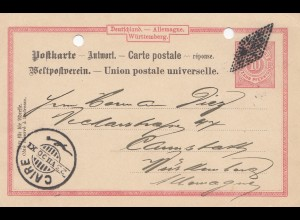 Ägypten/Egypte: 1900: Ganzsache Cairo, seltene Destination