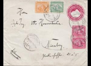 Ägypten/Egypte: 1903: Ganzsache Alexandria nach Nürnberg