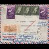 Ägypten/Egypte: Luftpost Alexandria nach Hamburg, Briefinhalt
