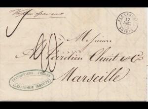 Ägypten/Egypte: 1853: Alexandria nach Marseille