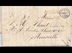 Ägypten/Egypte: 1853: Alexandria nach Marseille, Paquebot