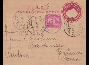 Ägypten/Egypte: 1901: Ganzsache Ismailia nach Österreich, KuK-Post Gracanica