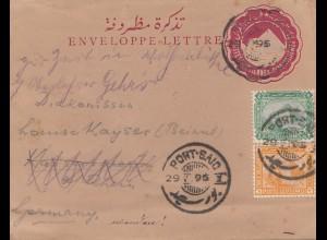 Ägypten/Egypte: 1895: Ganzsache Port Said nach Wolfenbüttel