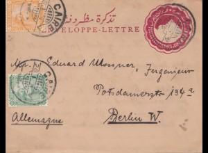 Ägypten/Egypte: 1901: Ganzsache Cairo nach Berlin
