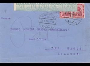 Ägypten/Egypte: 1919: Alexandria mit Zensur nach Holland