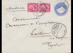 Ägypten/Egypte: 1896: Ganzsache Helouan