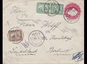 Ägypten/Egypte: 1904: Ganzsache Hilwan nach Berlin