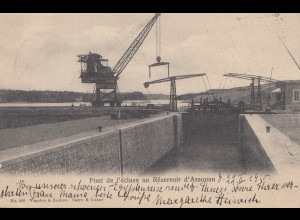 Ägypten/Egypte: 1910: Ansichtskarte Luqsor nach Deutschland, Pont de l' écluse