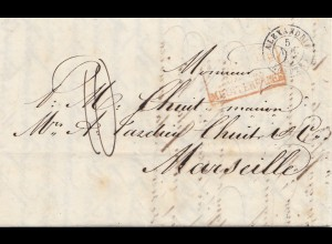 Ägypten/Egypte: 1852: Alexandria nach Marseille