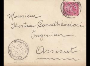 Ägypten/Egypte: 1899: Brief Alexandria nach Assiout, Circle Mohammed Aly