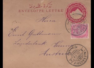 Ägypten/Egypte: 1892: Ganzsache Alexandria nach Wien