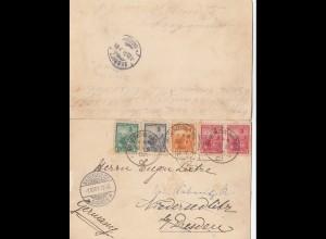 Argentinien: 1901: große Ansichtskarte Buenos Aires nach Niedersedlitz