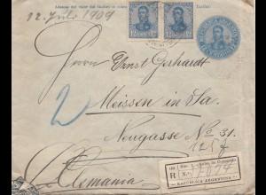 Argentinien: 1909: Einschreiben nach Meissen