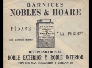 Argentinien: Ganzsachenumschlag mit Werbung, Bug