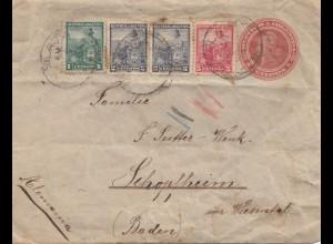 Argentinien: 1920: Ganzsache nach Schopfheim