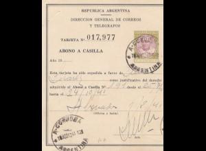 Argentinien: 1941: Telegram