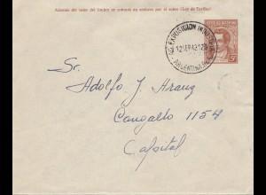 Argentinien: 1942: Ganzsachenbrief Messe
