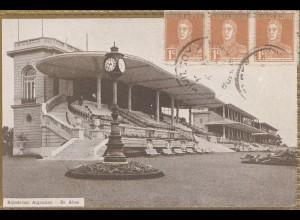 Argentinien: 1924: Ansichtskarte Hipodromo nach Offenbach