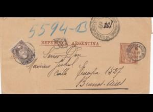 Argentinien: 1893: Streifband nach Buenos Aires
