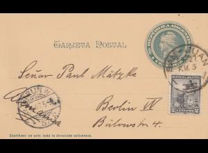 Argentinien: 1907: Ganzsache San Juan nach Berlin