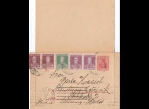 Argentinien: 1924: Kartenbrief Ganzsache Germania aus Buenos Aires