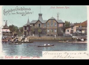 Argentinien: 1901: Ansichtskarte Buenos Aires nach Neuburg