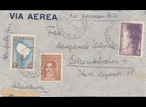 Argentinien: 1940: Luftpost Zensur Guamini nach Gelsenkirchen