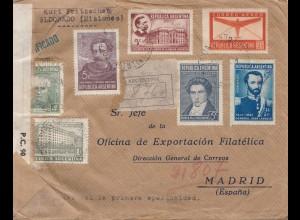 Argentinien: 1945: Britische Zensur Brief nach Madrid