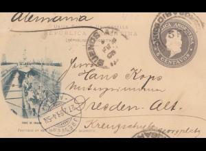 Argentinien: 1898: Ganzsache nach Dresden