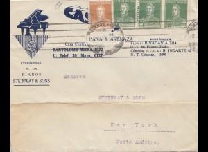 Argentinien: 1923: Cordoba nach New York, Pianos, Steinway