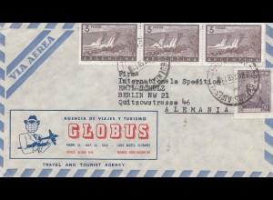 Argentinien: 1958: Luftpost nach Berlin, Globus Turismo