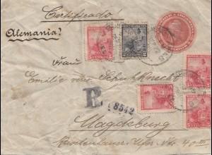 Argentinien: 1905: Einschreiben nach Magdeburg