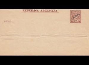 Argentinien: Ganzsache Muestra, Bug