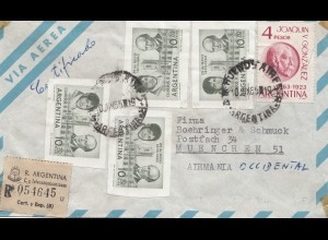 Argentinien: 1965: Einschreiben nach München